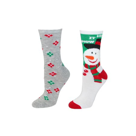 ctm womens holiday socks 2 pair pack size one size - Walmart Christmas Socks