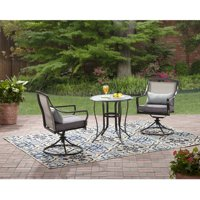 Deals on Mainstays Aqua 3-Piece Bistro Set