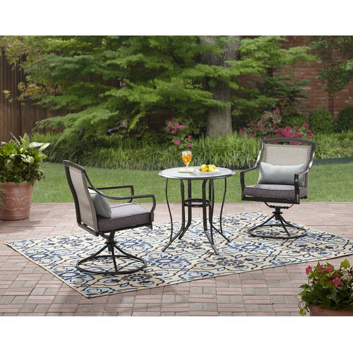 Fabulous Mainstays Aqua Piece Bistro Set