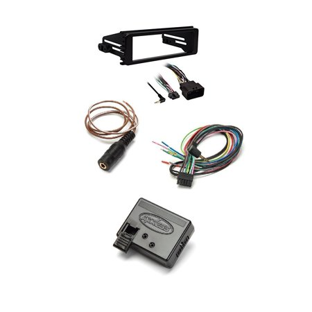 Metra 99-9600 Stereo Installation Kit for Select 1998-2013 Harley Davidson Motorcycles +Metra Axxess ASWC-1 Universal Steering Wheel Control Interface (Metra Interface)