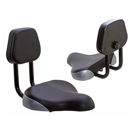 BEACH CRUISER SEAT WITH BACK 906 BLACK/SILVER. Bike part, Bicycle part, bike accessory, bicycle