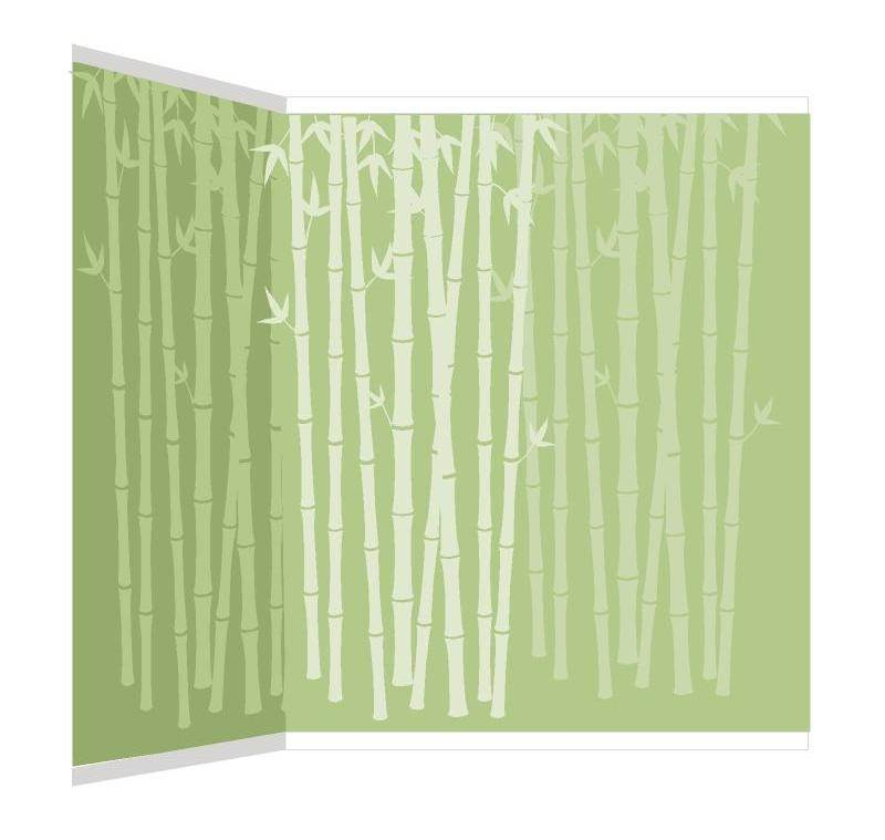 Bamboo Silhouettes Wall Mural