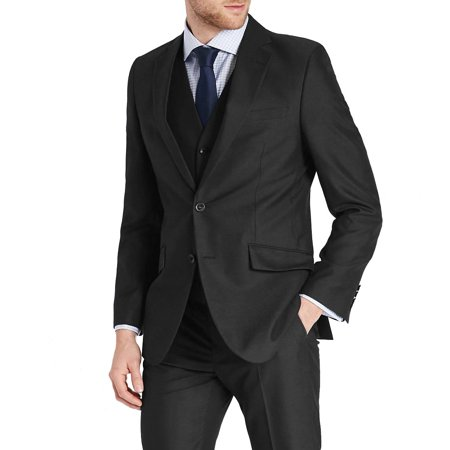 Mens Three Piece Two Button Slim Fit Italian Styled Single Breasted Suit Set | Black Navy Charcoal Gray Lightgray Beige Indigo Custom Fit Three Button Suit