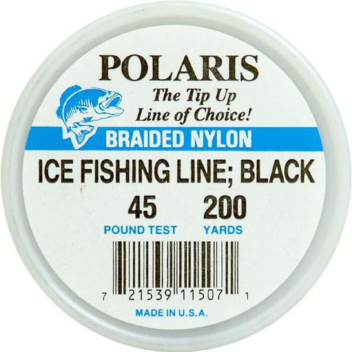 Woodstock Line 200Yd Ice Fishing Line 45,Blk WS200BK-45 by Woodstock Line