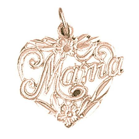 (14K Rose Gold #1 Mama Pendant - 19 mm)