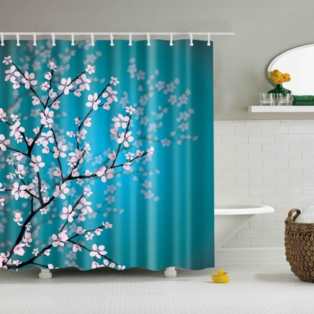 WALFRONT Shower Curtain With Ocean Sceneocean CurtainSeashell Conch Starfish