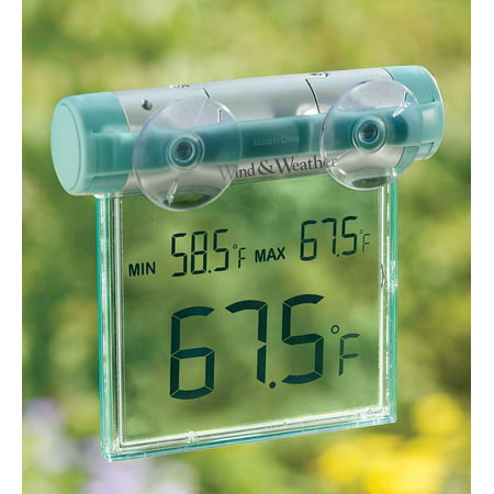 Window-Mounted Digital Thermometer withBig Display ()