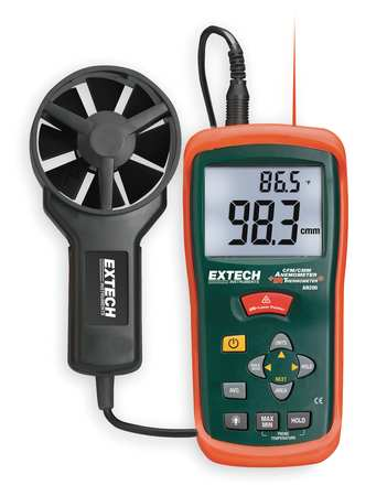 EXTECH AN200 Anemometer with IR Temp, 80 to 5900 fpm by Extech