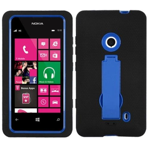 Insten Dark Blue Black Symbiosis Stand Protector Case For NOKIA 521 Lumia 521