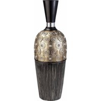 "Ore 20"" Traditional Black and Gold Decorative Vase"