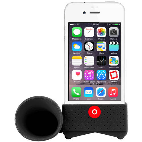 Black Amplifying Speaker for Apple iPhone 4/4s