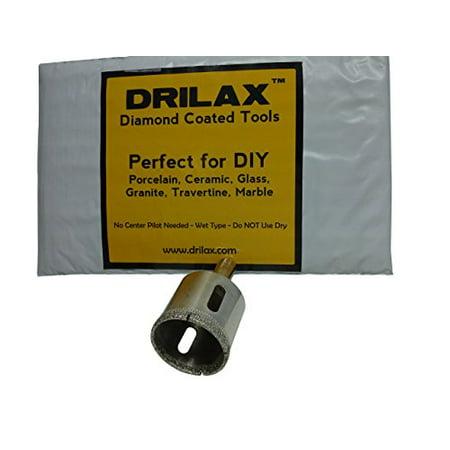 Drilax Diamond Drill Bit Large 1-3/8 inch  Size Hole Saw For Glass, Marble, Granite, Ceramic Porcelain Tiles, Quartz, Fish Tank, Stones, Rocks DIY Drilling