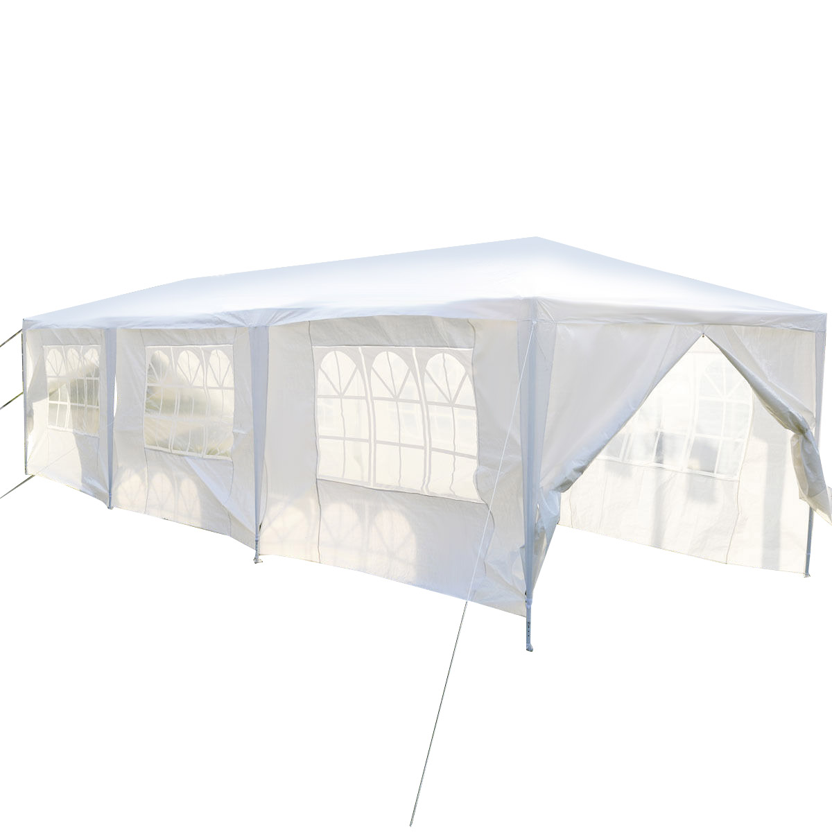 Gymax White Wedding Tent 10'x30'Outdoor Party Canopy Events - image 9 of 10