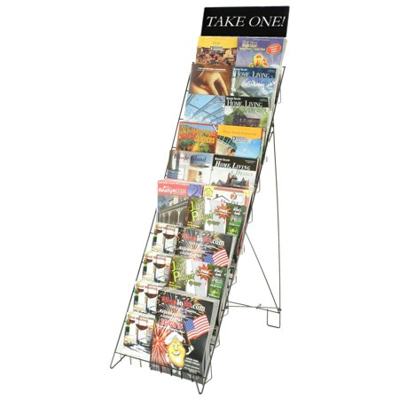 Wire Literature Rack for Floor with 10 Tiers, 47
