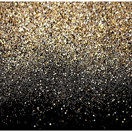 GreenDecor Polyster 5x7ft Glitter Black Gold Dots Photography Studio Backdrop Background](Glitter Chevron Background)