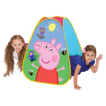 (Peppa Pig Classic Hideaway Playhouse, Pink, Play hide & seek By Playhut)
