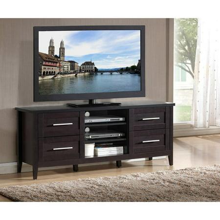 Techni mobili cordoba espresso 4 drawer tv stand for tvs for Mobili 4 frosinone