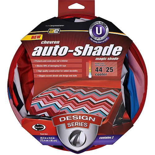 Auto Expressions Chevron Magic Shade Universal Windshield Shade