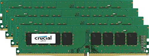 Crucial 16gb Kit [4gbx4] Ddr4 Pc4-17000 Unbuffered Non-ecc 1.2v - 16 Gb [4 X 4 Gb] - Ddr4 Sdram - 2133 Mhz Ddr4-2133/pc4-17000 - 1.20 V - Non-ecc - Unbuffered - 240-pin - Dimm (ct4k4g4dfs8213)