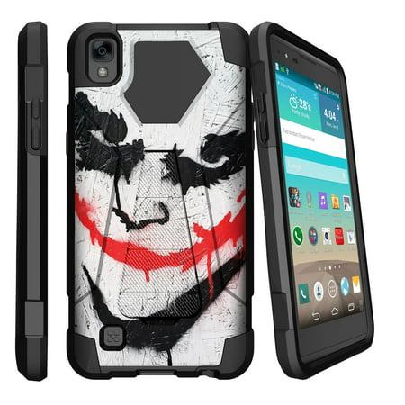 Case for LG K6P | LG X Power Hybrid Cover [ Shock Fusion ] High Impact Shock Resistant Shell Case + Kickstand - Joker