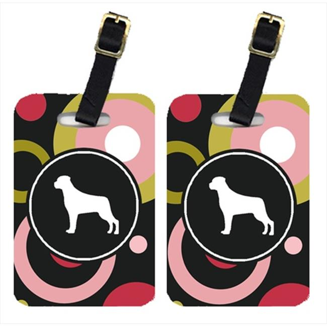 Carolines Treasures KJ1091BT Rottweiler Luggage Tags - Pair Of 2
