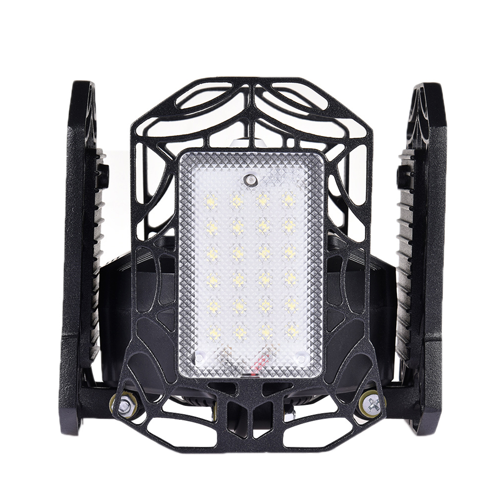 120W Deformable LED Garage Lights  E26 Work Shop Home Ceiling High Bay Lamps