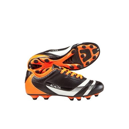 Acacia STYLE -37-450 Thunder Soccer Shoes - Black and Orange,