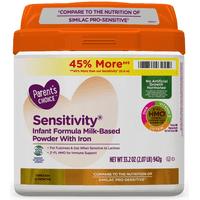 Parent's Choice HMO & Non-GMO Sensitivity® Infant Formula with Iron, 33.2 oz, 4 Pack