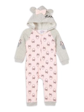 Disney Minnie Mouse Baby Girl Hooded Coverall