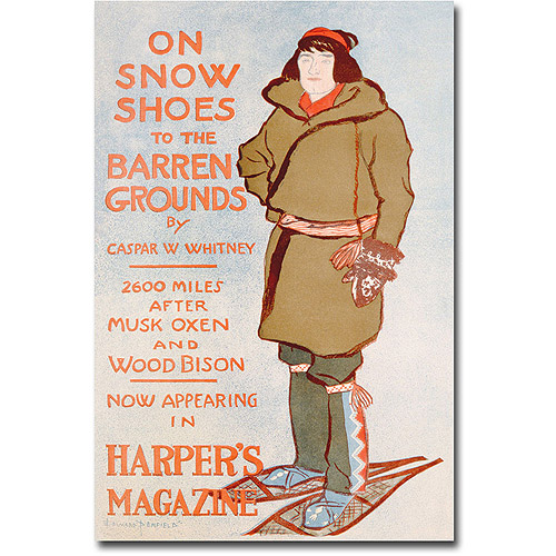"Trademark Art ""On Snow Shoes, 1899"" Canvas Wall Art by Caspar Whitney"