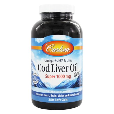 Carlson labs norwegian cod liver oil super 1000 mg for Carlson norwegian fish oil