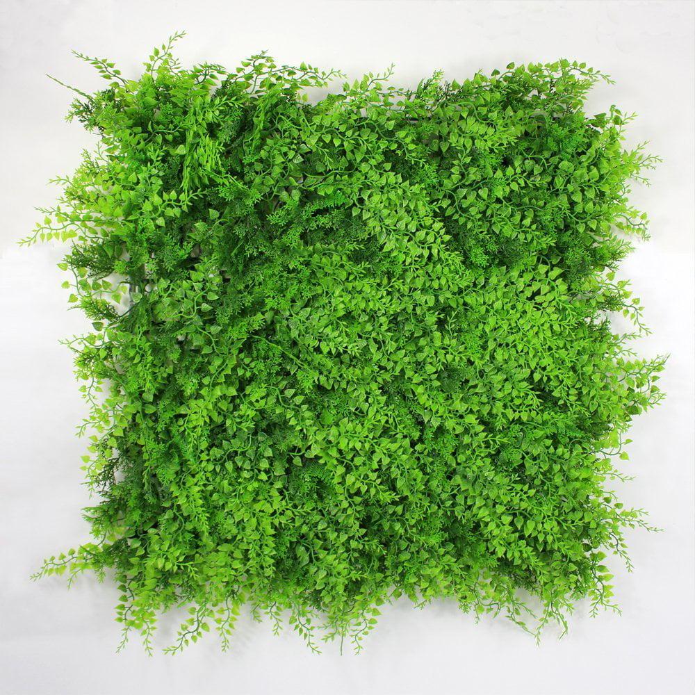 ULAND Artificial Greenery Bush For Garden Wall UV Stable ...