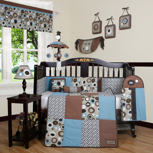 Geenny Boutique Scribble 13 Piece Crib Bedding Set