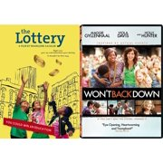 Won't Back Down + The Lottery DVD 2 Pack Drama True Story Movie Set inspirational Double Feature by