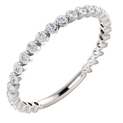 Platinum Diamond 1.5mm Polished 0.38 Dwt Diamond Anniversary Band Ring -- Size 6.5 Diamond Ring : Platinum Diamond Band