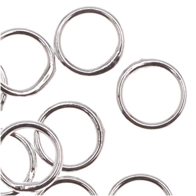 Silver Plated Closed Jump Rings 6mm 20 Gauge (20)