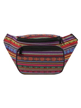d6b8324c9d35 Product Image HDE Boho Fanny Pack Aztec Striped Waist Pack Tribal Bum Bag  for Men and Women (