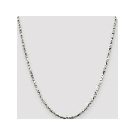 925 Sterling Silver 2mm Diamond-Cut Spiga Chain - image 4 de 5