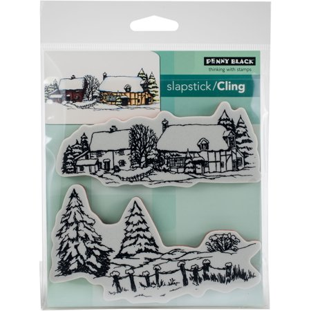 Penny Black Cling Stamps-Snow Covered