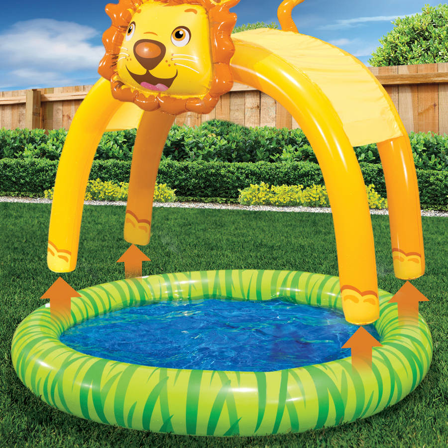 Spring /& Summer Toys Banzai Shade /'N Sun Lion Pool with Removable Canopy