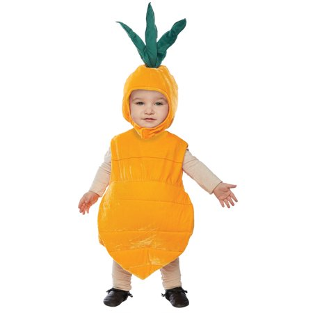 Unisex Fun Adorable Toddler Carrot Healthy Vegetable Suit ...