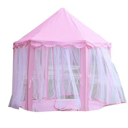 Princess Castle Tent Large Space Children Play Tent for Kids Indoor & Outdoor Pink Playhouse (Princess Castle Play Tent)