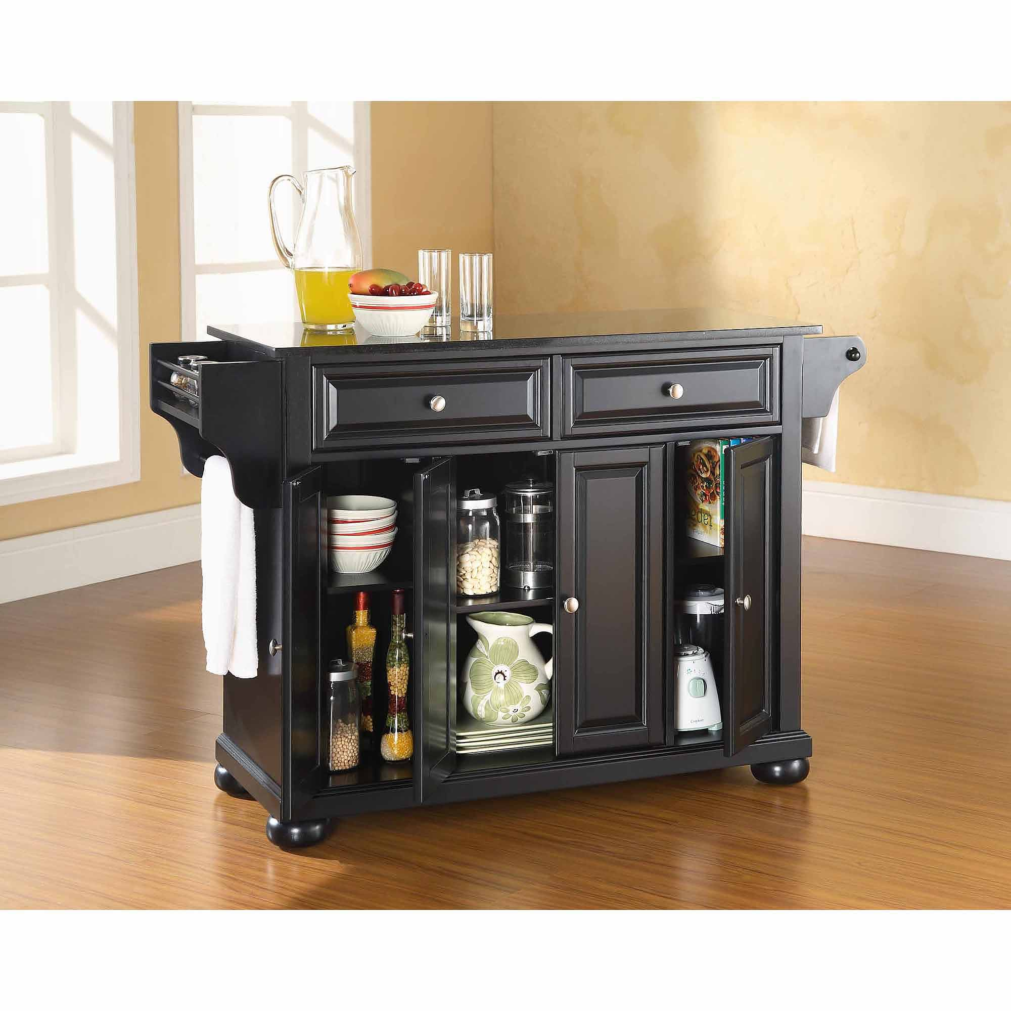 Crosley Furniture Alexandria Solid Black Granite Top Kitchen Island