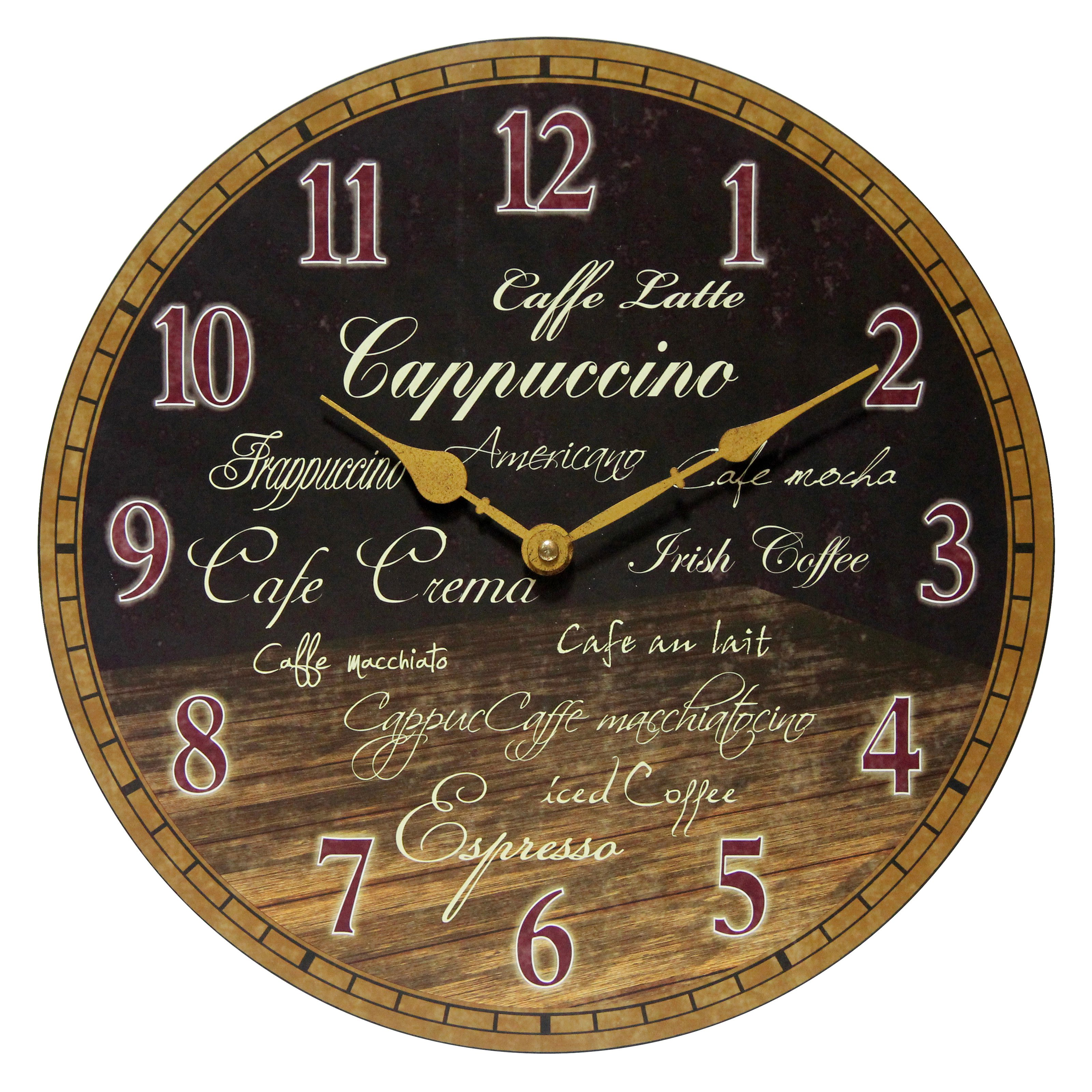 Infinity Instruments Morning Brew 13.5W x 13.5H in. Wall Clock