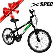 "Xspec 20"" Boys 6 Speed Junior Teen Mountain Bike Bicycle Trail Commuter Black"