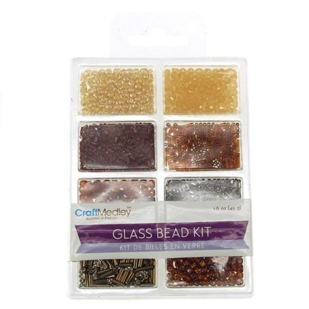 Loose Glass Beads Kit, Nuggets, -
