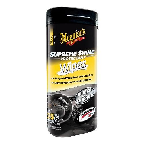 Meguiar's G4000 Supreme Shine Hi-Gloss Wipes (25 wipes) (3 Pack)