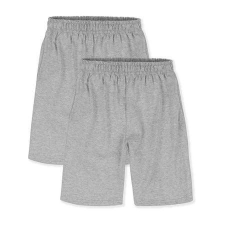 Hanes Boys 4-18 ComfortSoft Jersey Pocket Active Short Value Pack, 2 Pack Mtb Jersey Short