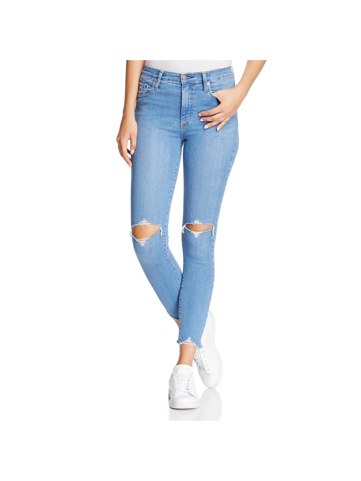 Nobody Womens Covet Wash Ankle Skinny Jeans Blue 26