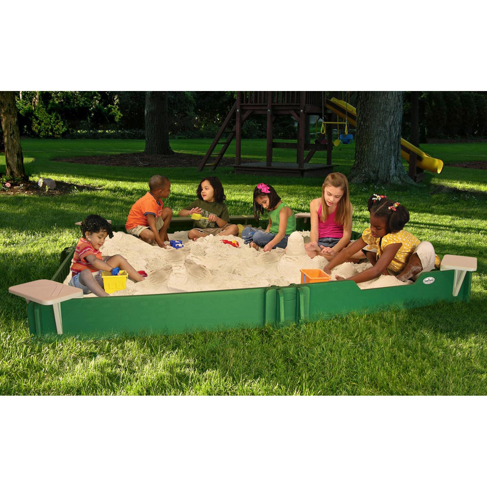 Sandlock CSG-120120 10 x 10-ft. Sandbox with Cover by Sandlock Sandbox LLC